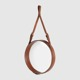 Lustro Gubi Adnet Circular, Tan Leather