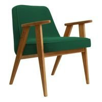 Fotel 366 Concept VELVET Collection, Green Grass Oak 03