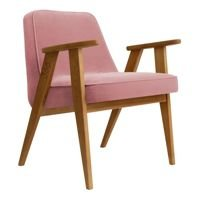 Fotel 366 Concept VELVET Collection, Powder Pink Oak 03