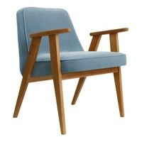 Fotel 366 Concept VELVET Collection, Sky Blue Oak 03