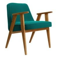 Fotel 366 Concept VELVET Collection, Turquoise Oak 03