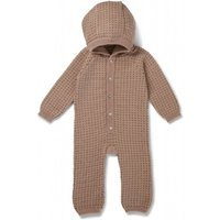 Kombinezon Newborn Konges Slojd Tomama z kapturkiem, Paloma Brown/Honey comb