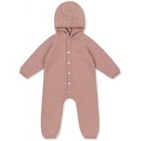 Kombinezon Newborn Konges Slojd Tomama z kapturkiem, Rose Blush/Honey comb