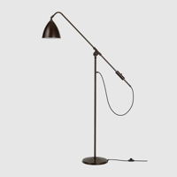 Lampa podłogowa Gubi Bestlite BL4, Black Brass Base/ Black Shade