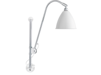 Lampa ścienna Gubi, model Bestlite BL5, kolor Matt White/Chrome