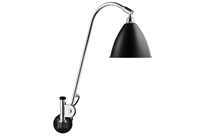 Lampa ścienna Gubi, model Bestlite BL6,  kolor Black/Chrome