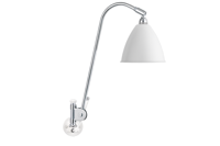 Lampa ścienna Gubi, model Bestlite BL6, kolor Matt White/Chrome