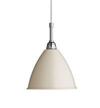 Lampa sufitowa Gubi, model Bestlite BL9 S, kolor Matt Off-White/Chrome