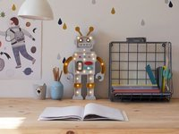Lampka Little Lights Robot, Mustard/Grey