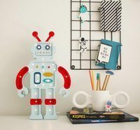 Lampka Little Lights Robot, Red/Blue