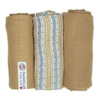 Otulacz Lodger Swaddler Epire muślinowy 3-pack 70x70 cm, Honey Stripe