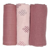 Otulacz Lodger Swaddler Epire muślinowy 3-pack 70x70 cm, Sensitive Knot (Plush)