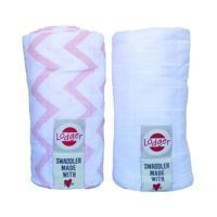 Otulacz Pielucha Swaddler Lodger Nude/White 120x120 2pack