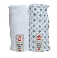 Pieluszki 2-pack Lodger Swaddler Bali/White