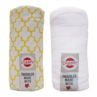 Pieluszki 2-pack Lodger Swaddler Gold/White