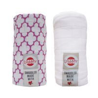 Pieluszki 2-pack Lodger Swaddler Mauve/White