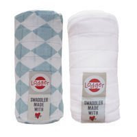 Pieluszki 2-pack Lodger Swaddler Silvercreek/White