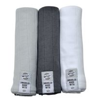 Pieluszki 3-pack XL Lodger Swaddler Mist/Carbon/White