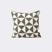 Poduszka Ferm Living Large Geometry Grey