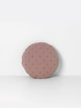 Poduszka pufa Ferm Living Popcorn Round Cushion Dusty Rose