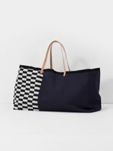 Torba Ferm Living Herman Big Bag granatowa
