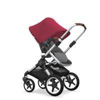 Wózek 2 w1 Bugaboo Fox Aluminium - Grey Melange/Ruby Red