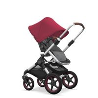 Wózek 2 w1 Bugaboo Fox Aluminium - Grey Melange/Ruby Red/Coniac/Dark red