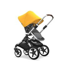 Wózek 2 w1 Bugaboo Fox Aluminium - Grey Melange/Yellow Sunrise/Coniac/White