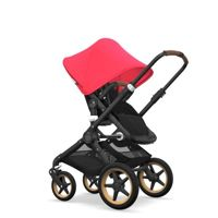Wózek 2 w1 Bugaboo Fox Black - Black/Neon Red/Wood/Coniac