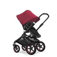 Wózek 2 w1 Bugaboo Fox Black - Black/Ruby Red