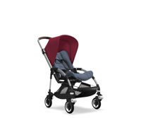 Wózek spacerowy Bugaboo Bee5 ALU+/BLUE MELANGE z budką RUBY RED