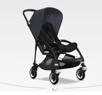 Wózek spacerowy Bugaboo Bee5 BLACK+/BLACK z budką STEEL BLUE