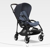 Wózek spacerowy Bugaboo Bee5 BLACK+/BLUE MELANGE z budką STEEL BLUE