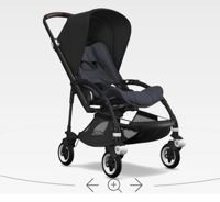 Wózek spacerowy Bugaboo Bee5 BLACK+/STEEL BLUE z budką BLACK