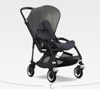 Wózek spacerowy Bugaboo Bee5 BLACK+/STEEL BLUE z budką GREY MELANGE