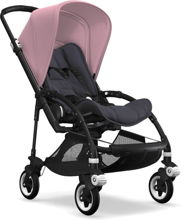 Wózek spacerowy Bugaboo Bee5 BLACK+/STEEL BLUE z budką SOFT PINK