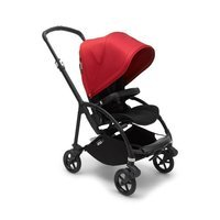 Wózek spacerowy Bugaboo Bee6  baza BLACK/BLACK z budką RED