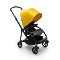 Wózek spacerowy Bugaboo Bee6  baza BLACK/GRAY z budką LEMON YELLOW