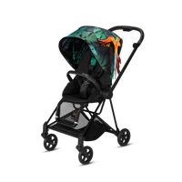 Wózek spacerowy Cybex Mios Birds of Paradise na stelażu Matt Black