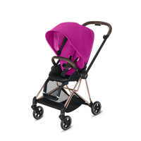 Wózek spacerowy Cybex Mios na stelażu Chrome Brown, Fancy Pink