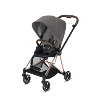 Wózek spacerowy Cybex Mios na stelażu Chrome Brown, Manhattan Grey