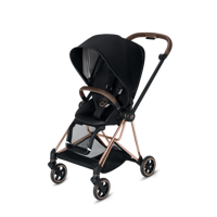 Wózek spacerowy Cybex Mios na stelażu Chrome Brown, Premium Black
