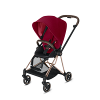Wózek spacerowy Cybex Mios na stelażu Chrome Brown, True Red
