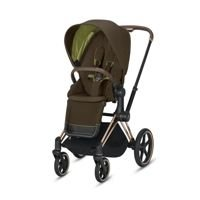 Wózek spacerowy Cybex Priam 2.0 na stelażu Chrome Brown z siedziskiem LUX, Khaki Green