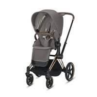 Wózek spacerowy Cybex Priam 2.0 na stelażu Chrome Brown z siedziskiem LUX, Soho Grey