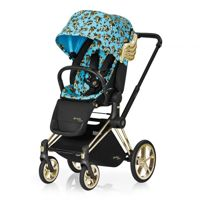 Wózek spacerowy Cybex Priam Cherubs Blue by Jeremy Scott z siedziskiem LUX