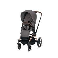 Wózek spacerowy Cybex Priam na stelażu Rose Gold z siedziskiem LUX Manhattan Grey