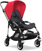 Wózek spacerowy Bugaboo Bee5 ALU+/STEEL BLUE z budką NEON RED