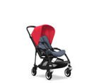Wózek spacerowy Bugaboo Bee5 BLACK+/BLUE MELANGE z budką NEON RED