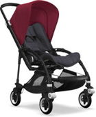 Wózek spacerowy Bugaboo Bee5 BLACK+/STEEL BLUE z budką RUBY RED